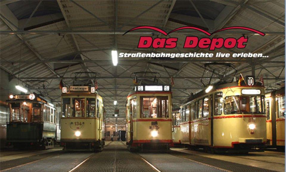 Das Straßenbahndepot in Sebaldsbrück