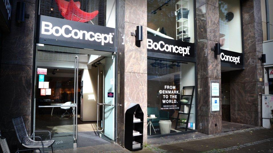 Der Eingang von BoConcept.