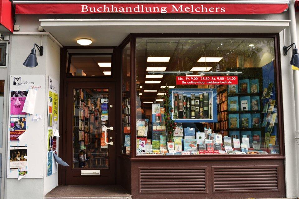 Die vordere Ansicht der Buchhandlung Melchers.