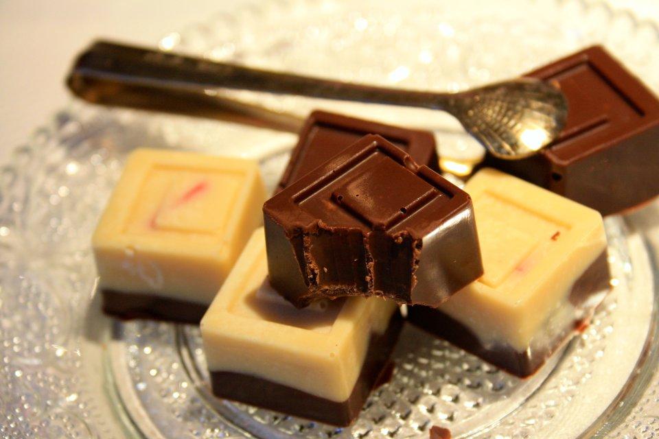 Schokoladenpralinen in der Nahaufnahme