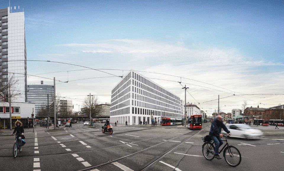 Das CityGate am Bahnhofsvorplatz wächst täglich.