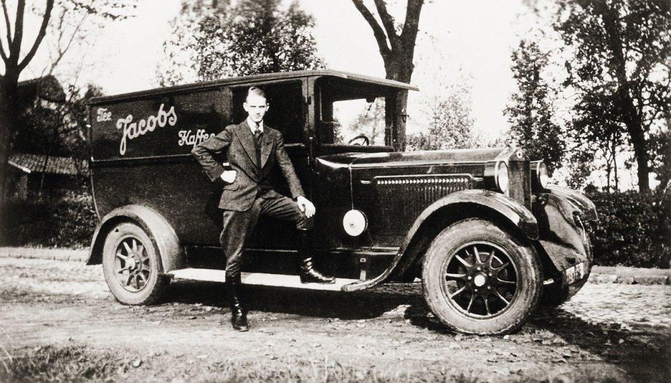 Ein historischer Lieferwagen