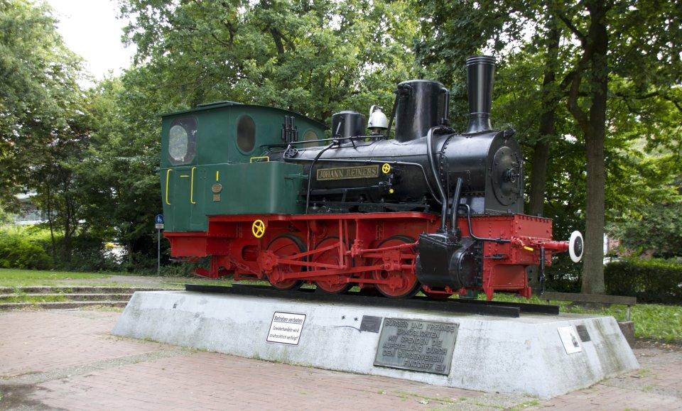 Lokomotivdenkmal zeigt Dampflok Jan Reiners