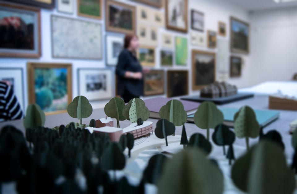 Einblick in die Ausstellung in der Worpsweder Kunsthalle.