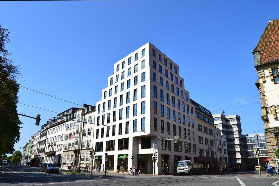 Das Kontorhaus Altenwall aus der vorderen Ansicht