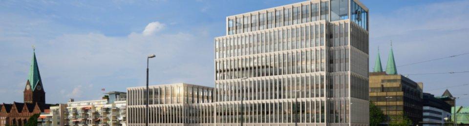 Geplante Ansicht des neuen Stammhauses für Kühne+Nagel