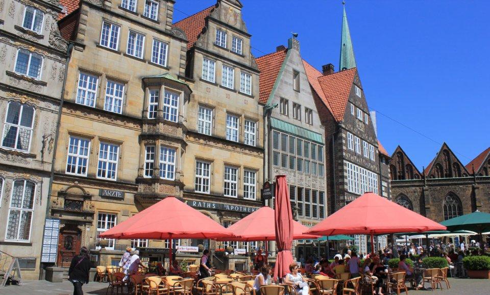 Teil des Gebäudeensembles am Rande des Bremer Marktplatzes.