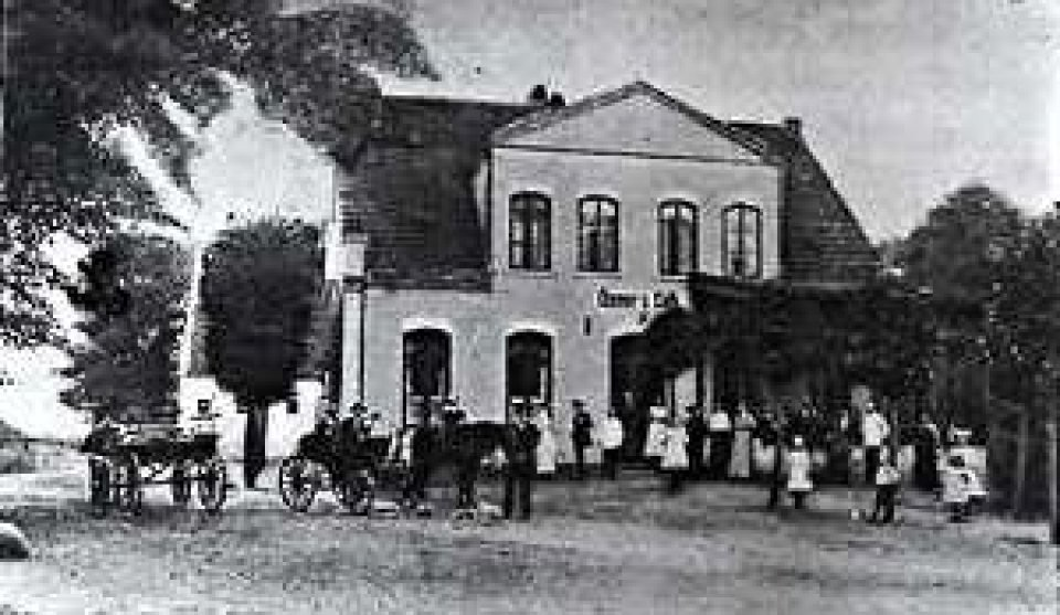 Osmers Café in Huchting um 1917