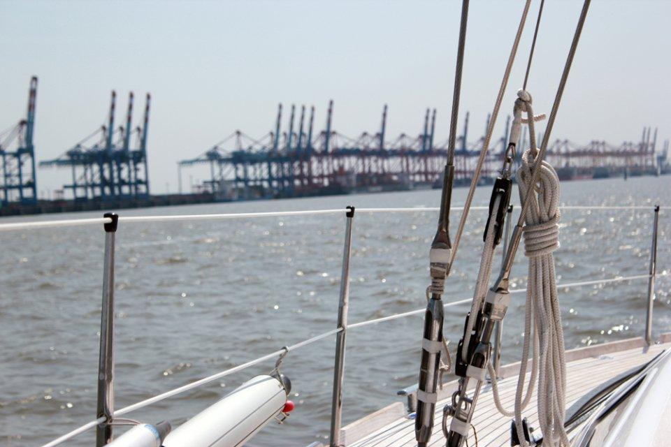 Segeln im Europahafen