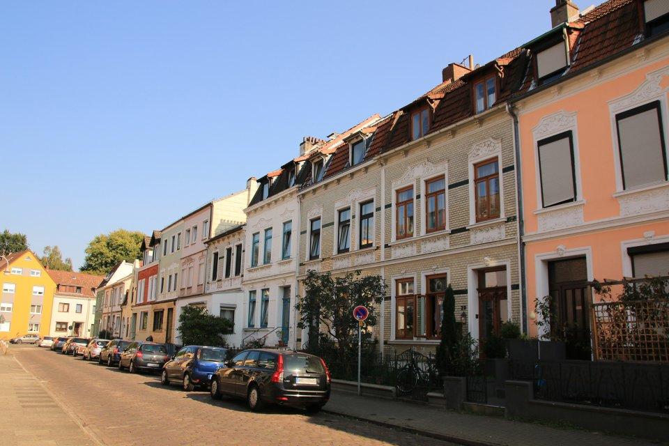 Altbremer Häuser in Gröpelingen (Quelle: WFB/bremen.online).