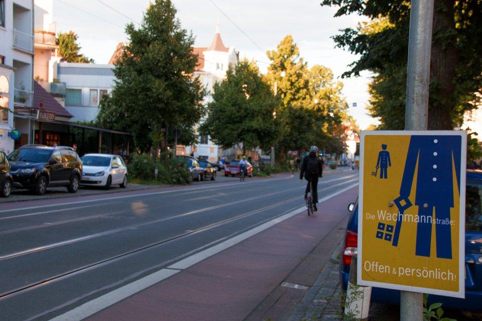 Blick auf die Wachmannstraße